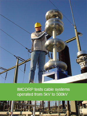 IMCORP can test cable systems operated from 5kV to 500kV